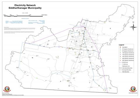 Electricity REsource Map of Siddharthanagar Municipality