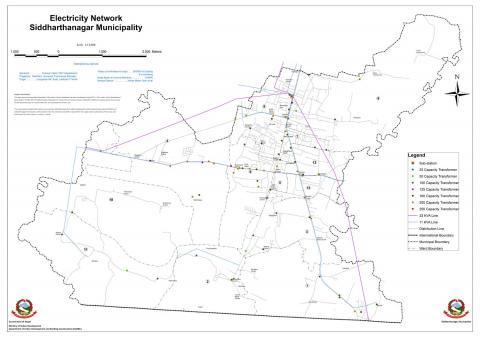 Electricity REsource Map of Siddharthanagar Municipality